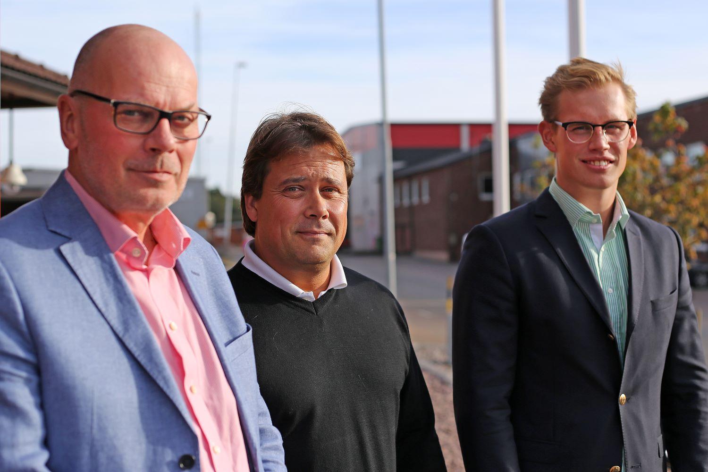 Torbjörn Mange (Toyota Material Handling) Johan Svensson (Proplate) Erik Jonsson (Toyota Material Handling)